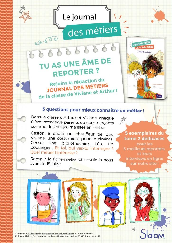 Affiche Journal des métiers - SLALOM-001