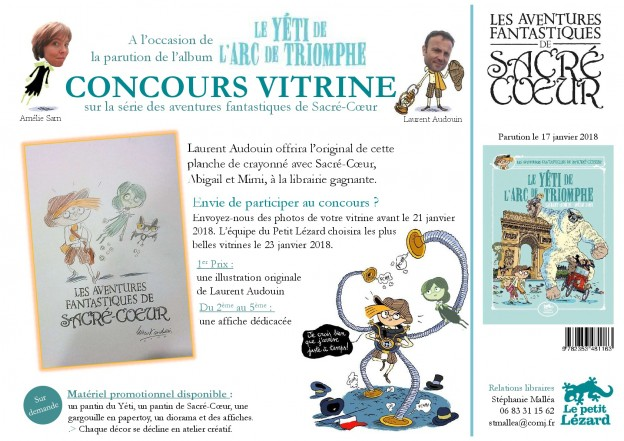 Concours vitrine Le yéti de l'Arc de Triomphe - Sacré-Coeur - janvier 18-001
